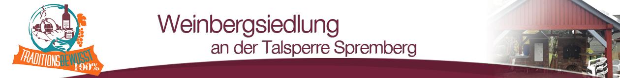 Weinbergsiedlung an der Talsperre Spremberg